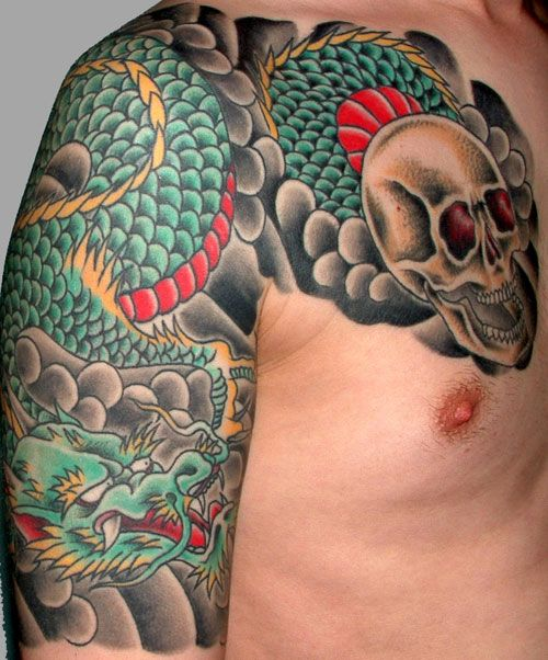 39 Best Japanese Yakuza Dragon Shoulder Tattoo Images On