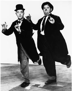 Laurel and Hardy, great photo of them. Stan Laurel made his debut at The Britannia Panopticon!!