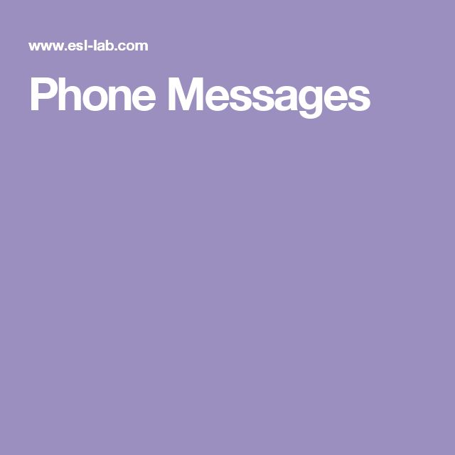Phone Messages