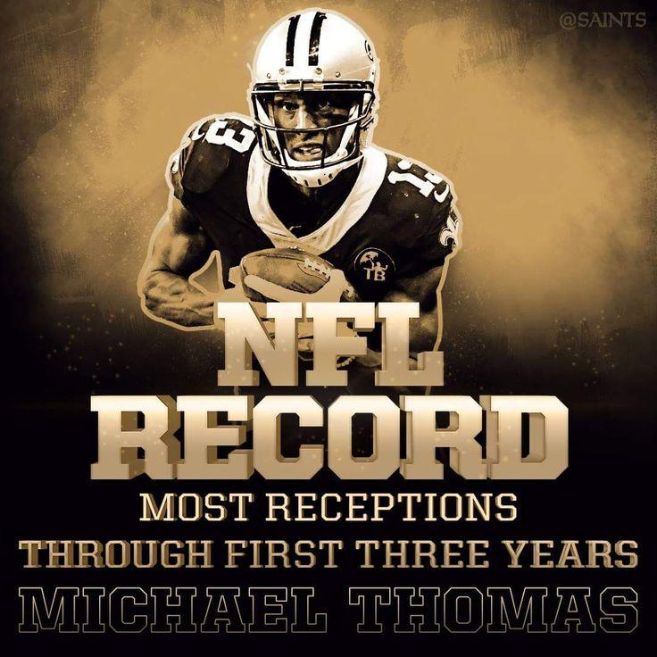 Saints Michael Thomas. NFL RECORD. Whodat GeauxSaints