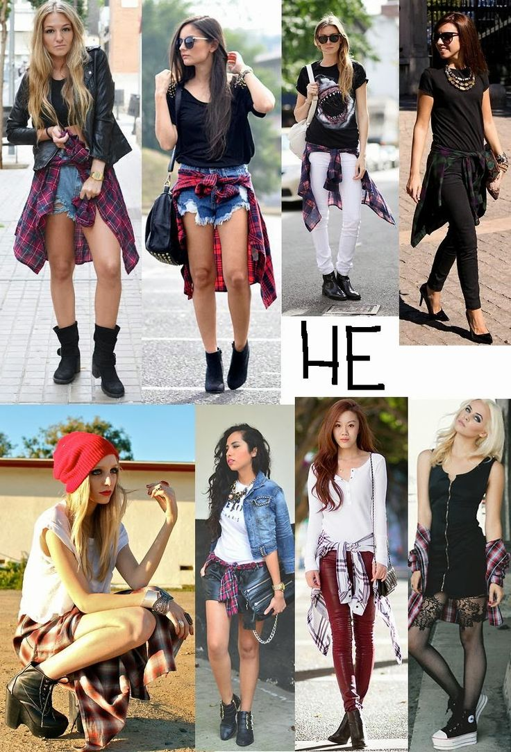 1000+ images about Back To School Plaid Shirt Tied Around Waist Bethany Mota Inspired on ...