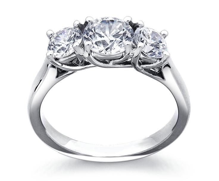 Pretty!Wedding Ring, Diamond Rings, Trellis Diamonds, Diamonds Rings, Stones Trellis, Stones Rings, Diamonds Engagement, Three Stones, Engagement Rings