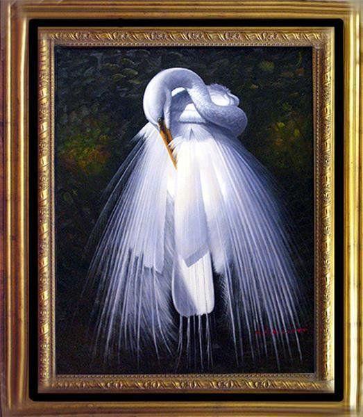 Xperia P White Egret Paintings   3092...