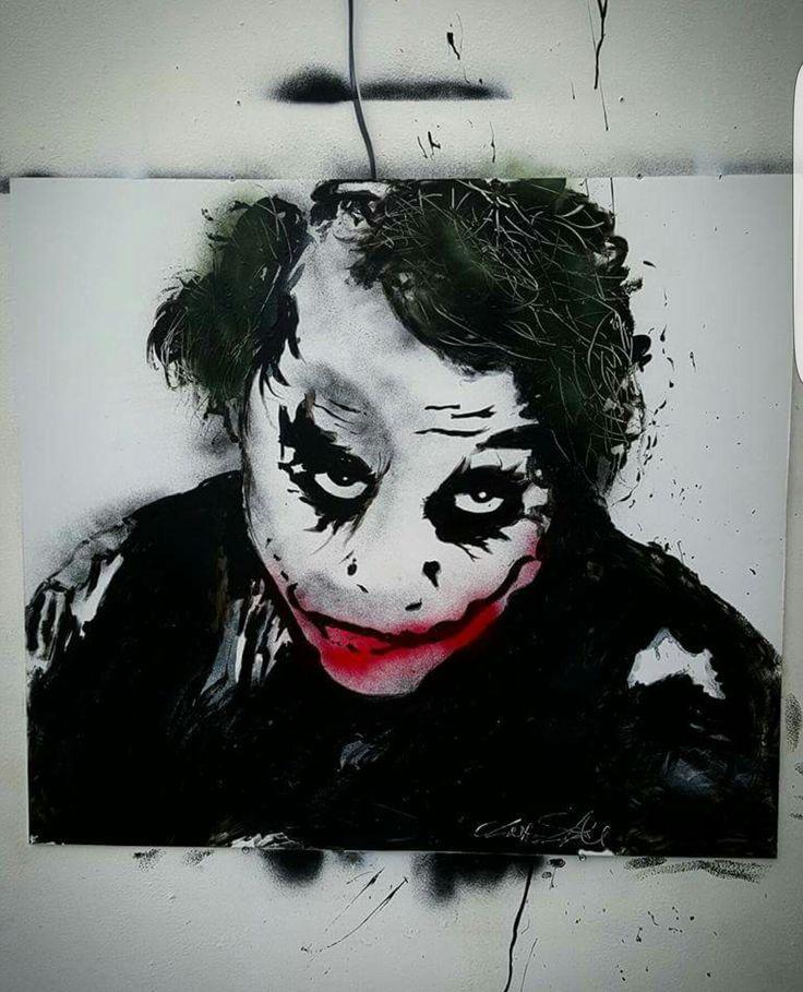 Joker spray art