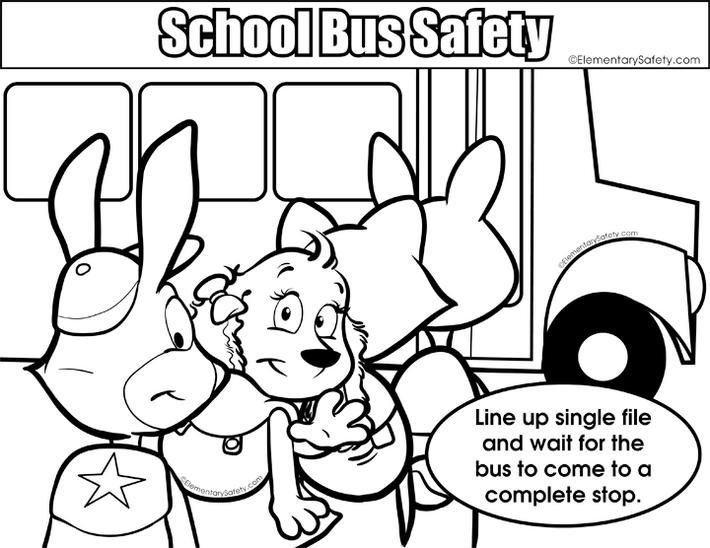 School Bus Safety Rule Colouring Page Bus Safety School Bus