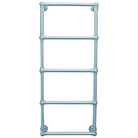Buy John Lewis Seagrove Dual Fuel Heated Towel Rail and Valves, from the Wall Online at johnlewis.com
