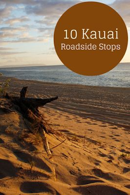 Travel the World: A guide to things to do in Kauai that just require pulling off the road. Some roadside stops for visiting waterfalls, canyons, beaches, and viewpoints in Kauai Hawaii.