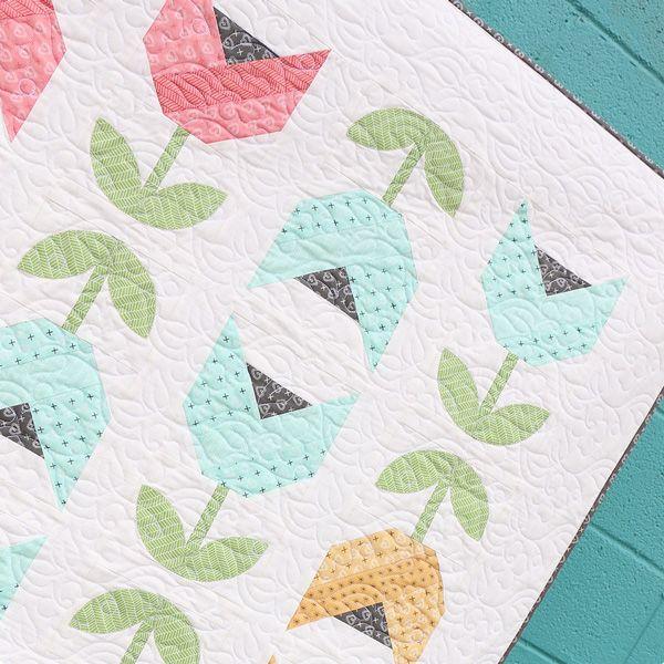 Dutch Tulips Quilt Pattern- FABRIC - Sugar Pie Collection Lella Boutique for Moda