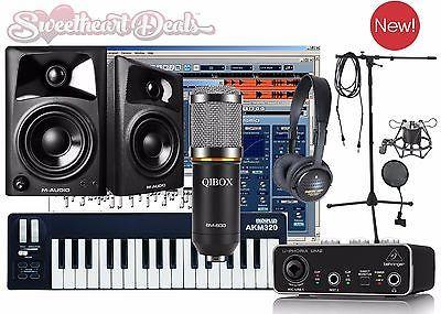 Home Recording Bundle Studio Package Midi 32 M-Audio Software Free Ship!