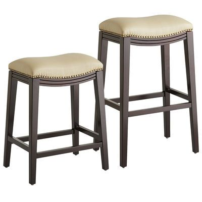 Inspirational Backless Counter Stools with Nailhead Trim
