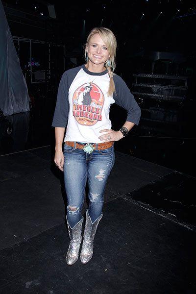 Miranda Lambert poses for a picture during rehearsals at the 49th annual ACM Awards.