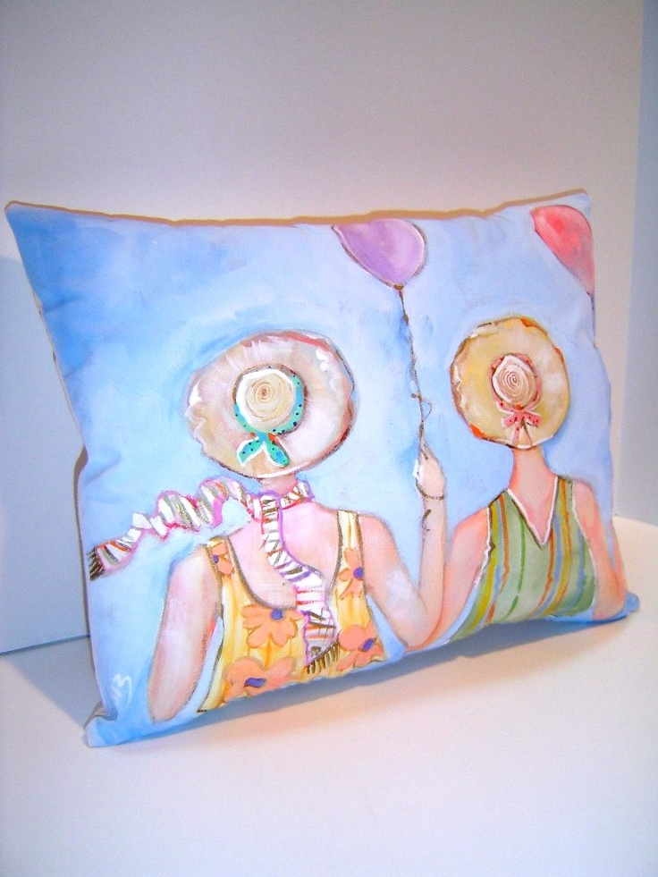 17 best images about pillows on pinterest beach cottages for Hand painted pillows