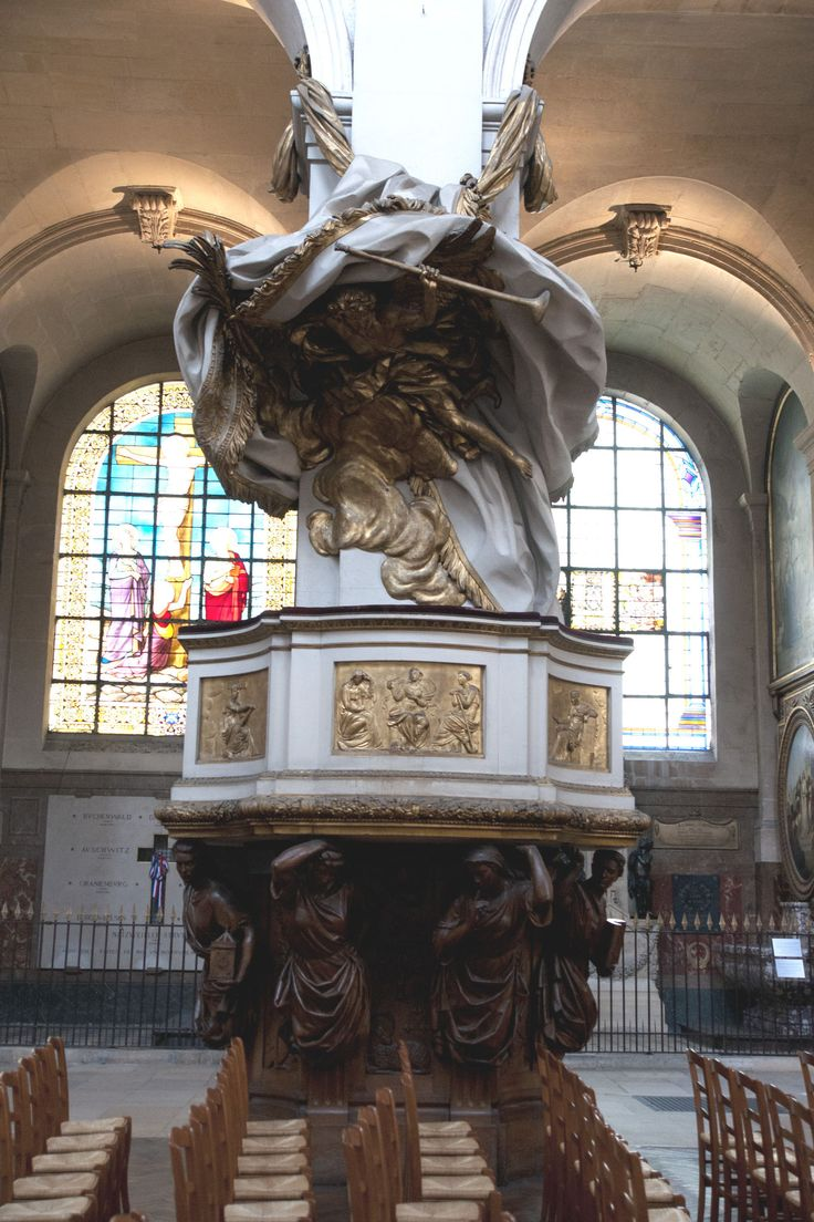 Chaire de l'église Saint Roch. Paris