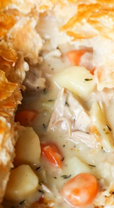 Creamy Chicken Puff Pie ^