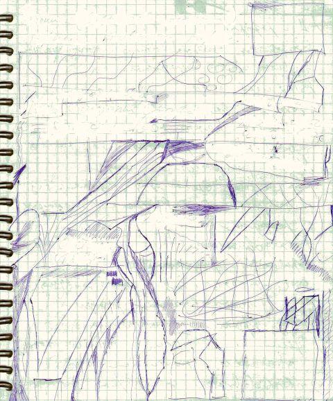 Train to the Kuntsevo Abstract art アブストラクトアート