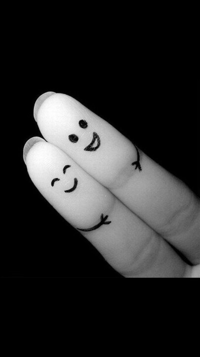 LoveFriends, Happy, Fingers People, Graphics Design, Funny, Black White, Things, Fingers Art, Design Blog