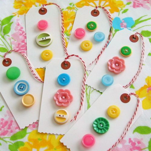 These would make cute place cards or favors (bookmarks) at a sewing party.  It would also be a great craft for little hands to learn how to sew.