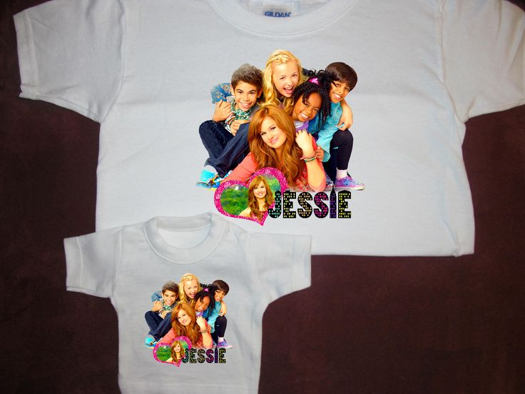 """Disney Jessie TV Show T-shirt with Matching Shirt For American Doll Teddy Bear Fits 18"""""""""""