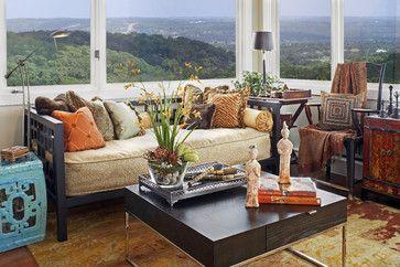 Transitional Sitting Area and Wet Bar - modern - family room - austin - Dawn Hearn Interior Design