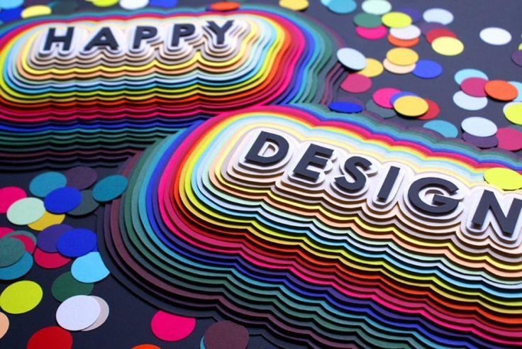 Крутые и очень цветные 3d работы из цветной бумаги ...