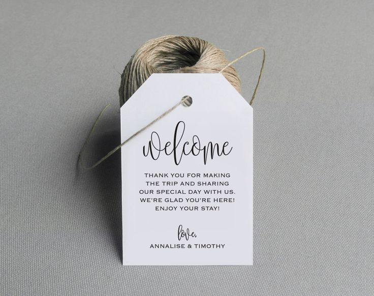 Welcome Wedding Tag, Wedding Welcome Bag Tag, Wedding Welcome Gift Tags, Welcome Tags, Welcome Bag, Favor, PDF Instant Download #BPB278 by BlissPaperBoutique on Etsy https://www.etsy.com/listing/270244921/welcome-wedding-tag-wedding-welcome-bag
