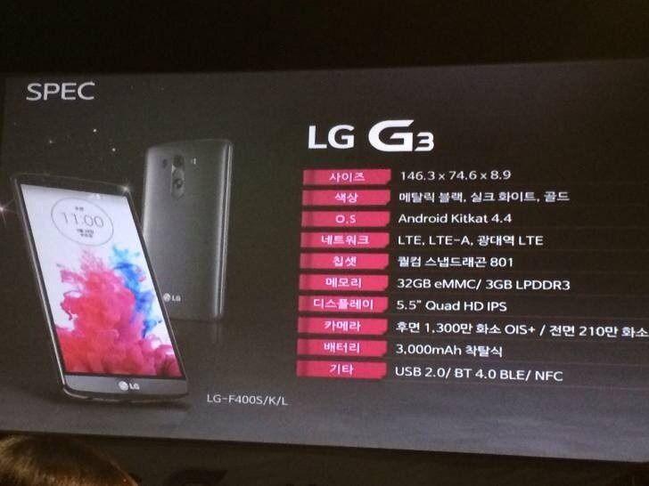 27 Mayıs 2014 tarihinde tanıtılacak olan LG G3 modelinden beklentiler oldukça yüksek. Tanıtım tarihi kesinleştikten sonra yurt dışı kaynaktan G3 modeli için bir çok haber gelmeye başladı. En çok paylaşılan haberler ise LG G3 modelinde olması beklenen özellikler hakkında oldu.   LG ...