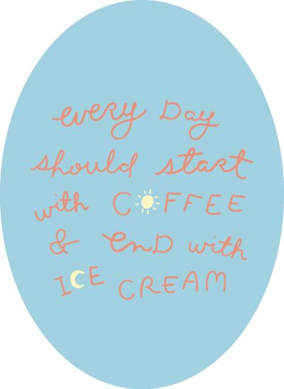 coffee & ice cream art print by homeseed paper