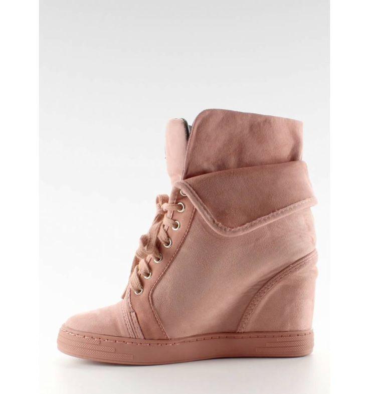 Sneakersy zamszowe B12-22 Pink - Sklep IMMODA.pl Sportowe obuwie damskie