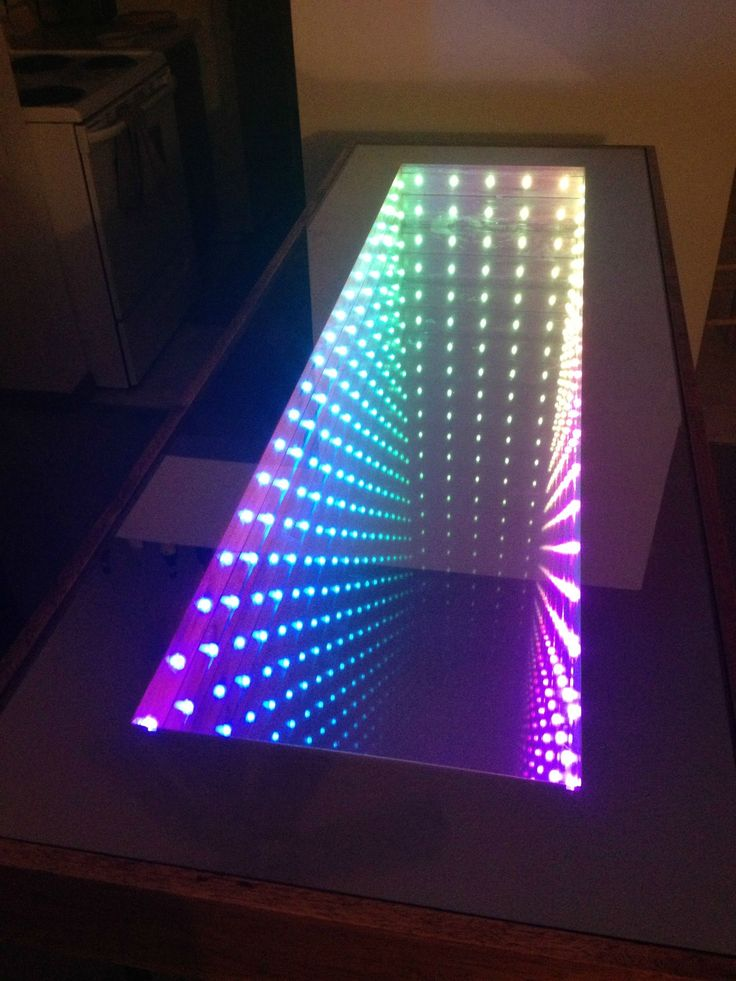My roommates and I built an Infinity Table for our apartment - Album on Imgur