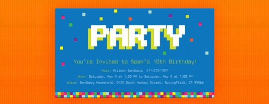 8 Bit Invitation