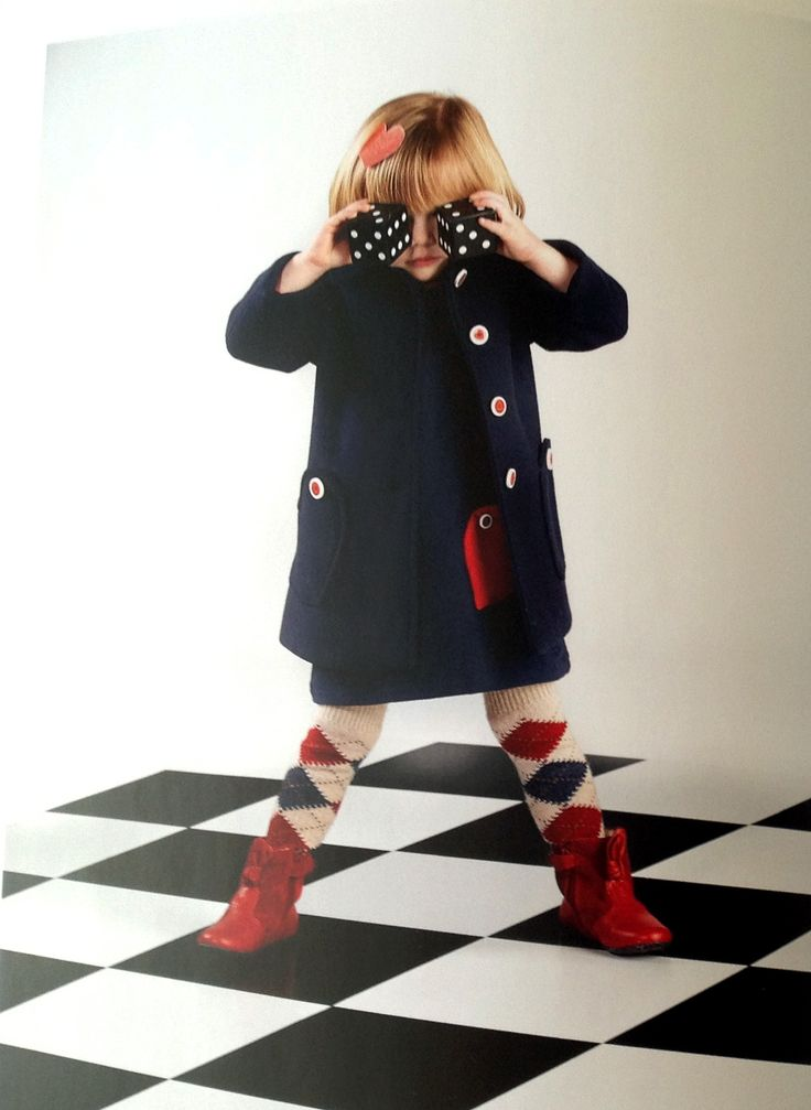 Blue coat and dress by Moschino