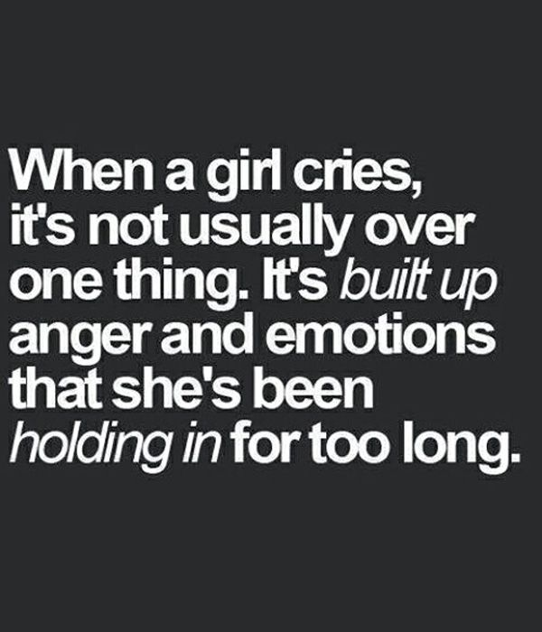 Girl Cries – Love Quote