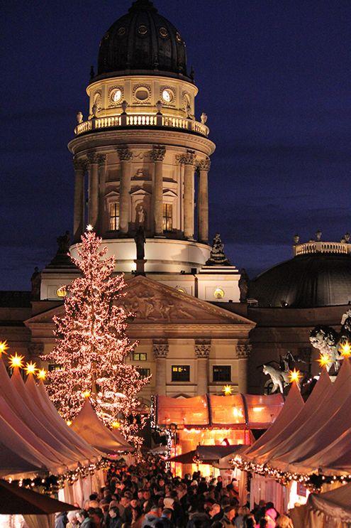 Berlin Christmas market at night