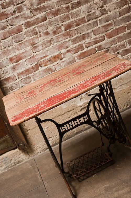 Antique sewing machine base, makes great table just like the one I made!