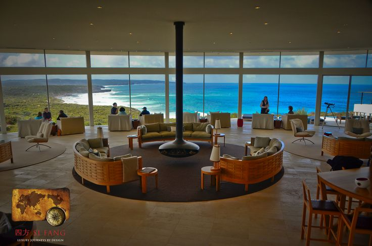 Southern Ocean Lodge on Kangaroo Island. One of the best lobbies in the world.