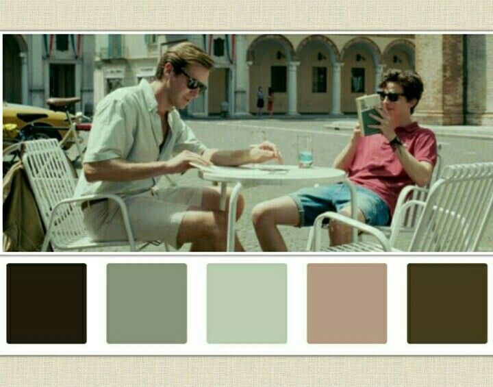 Call Me By Your Name Colour Scheme Movie Color Palette Cinema Colours Color In Film