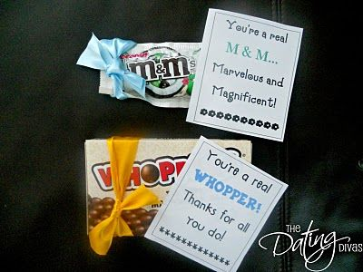 "You're a real ""m&m;""... Marvelous and Magnificent!  You're a real ""whopper""! Thanks for all you do!"
