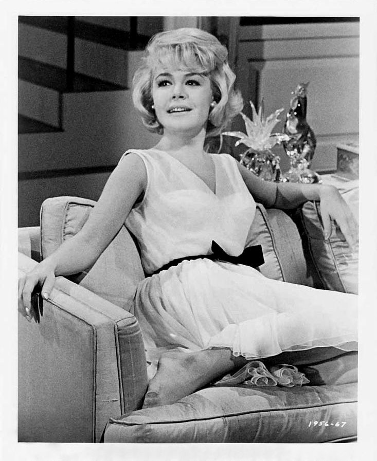 """Sandra Dee. Promotional photo for """"That Funny Feeling"""" (1965)."""