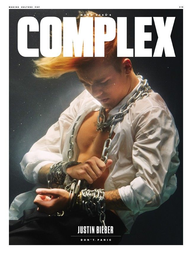 Justin Bieber covers the Oct / Nov 2015 issue of COMPLEX Magazine.