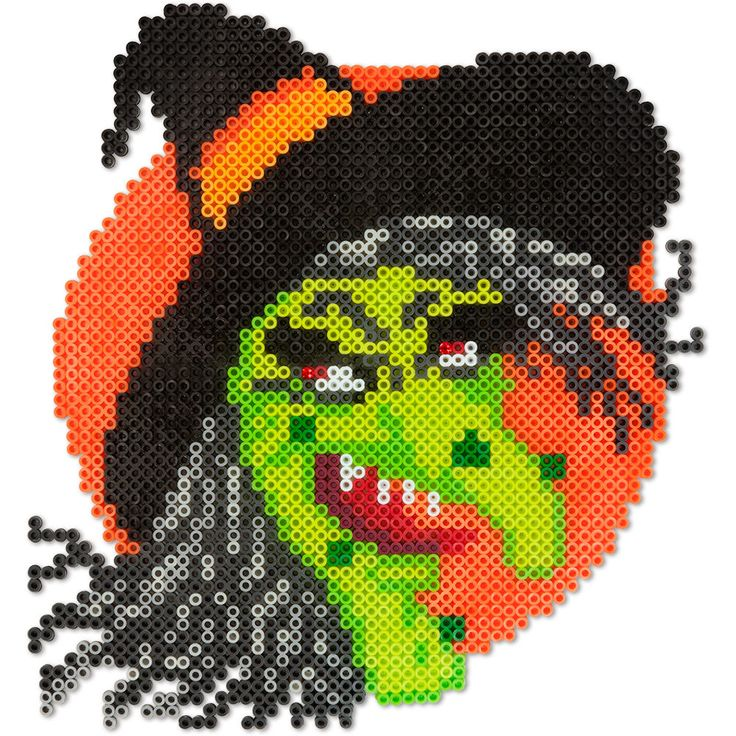 Give your trick-or-treaters a good scare with this creepy witch as a Halloween decoration at your door, party table, or trunk-or-treat event.