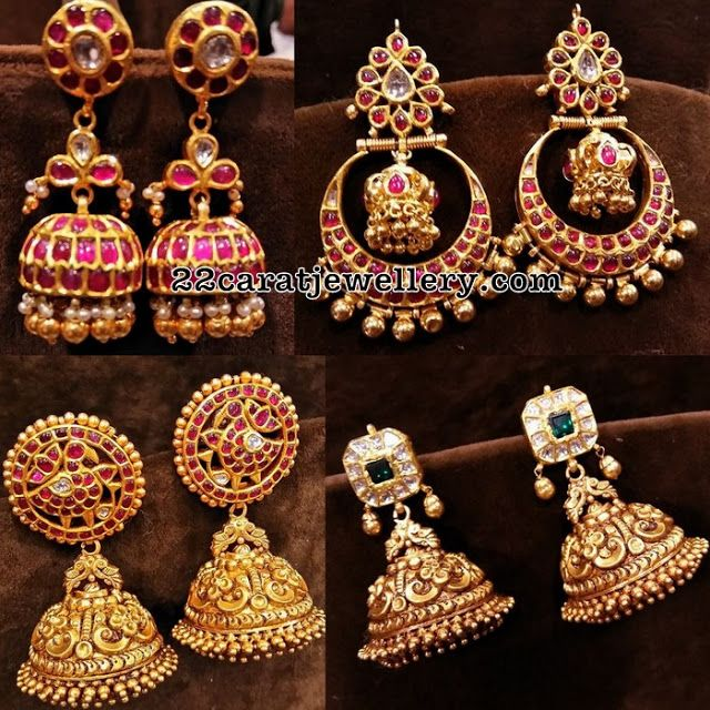 Temple Jhumkas New Collection