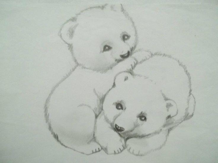 dibujos de osos enamorados a lapiz   imagui