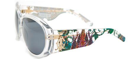 Christian Audigier CAS 410 Broken Heart Sunglasses – White Crystal