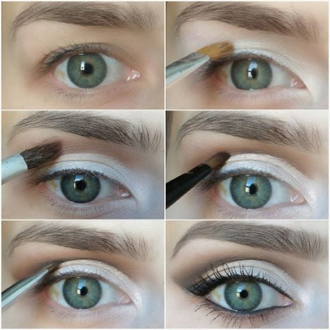 """Makeup look for """"Hooded Eyes"""". Hooded eyes, as well as mono-lids, and eyes with """"abundant"""" skin, or Even aging eyes, can be difficult to a..."""