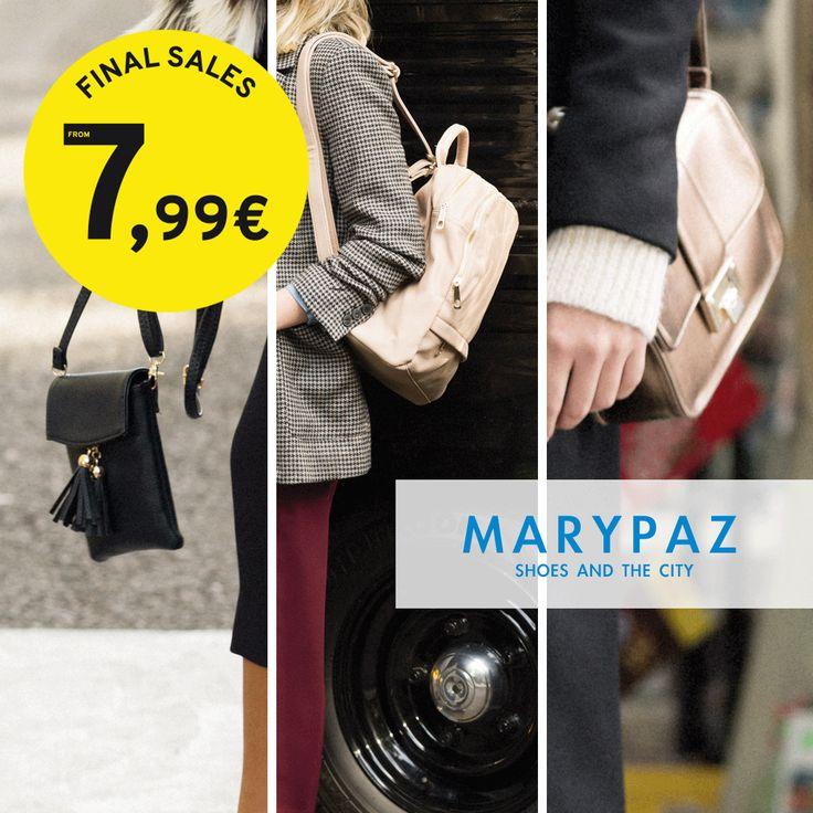 ¡ Las REBAJAS de MARYPAZ disponible también en nuestra colección de bolsos !  Aprovéchate de las REBAJAS de MARYPAZ desde 7,99 € en muchos de nuestros artículos en TIENDA y ONLINE www.marypaz.com  #locaporlosbolsos #welovebolsos#rebajasmarypa  Encuentra todos los bolsos aquí: http://www.marypaz.com/tienda-online/index.php/bolsos.html