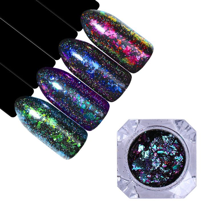 BORN PRETTY Holographic Chameleon Mirror Nail Powder Laser Flakies