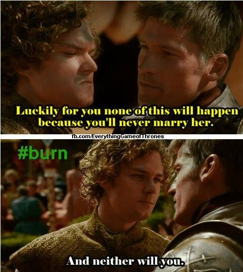 #ApplyWaterInBurntArea I thought this line was epic, well done Ser Loras.