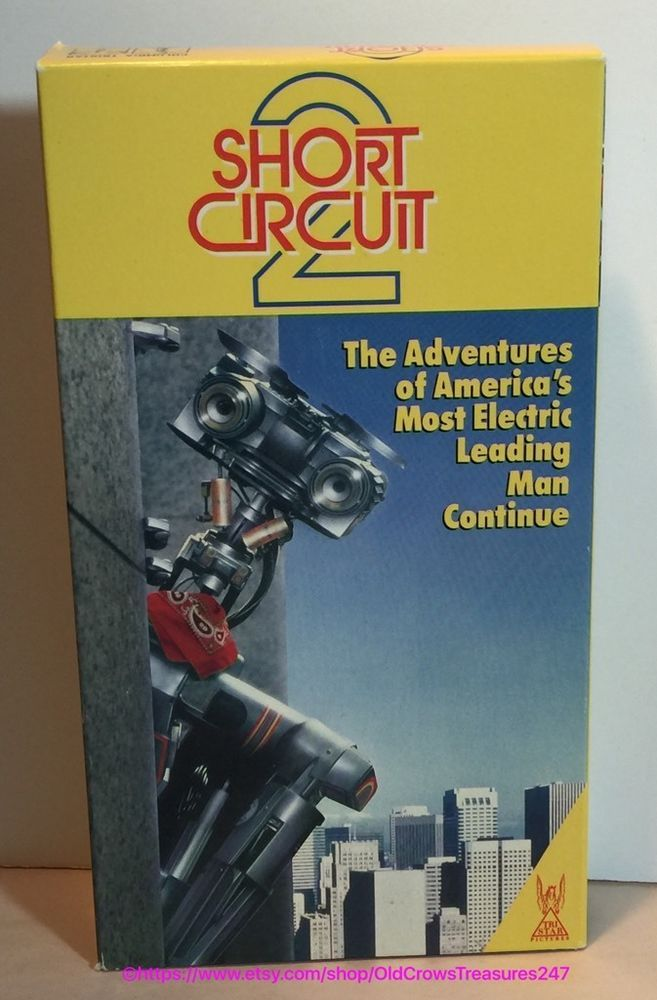 Vintage 1988 Short Circuit 2 VHS Movie Collectible Gift