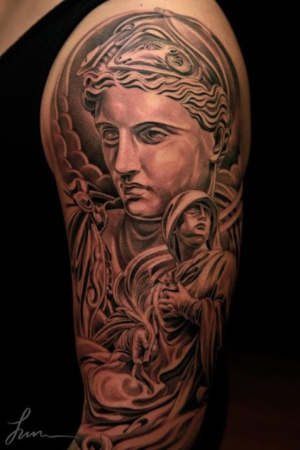 12 best black and gray images on pinterest gray tattoo for Neo pagan tattoos