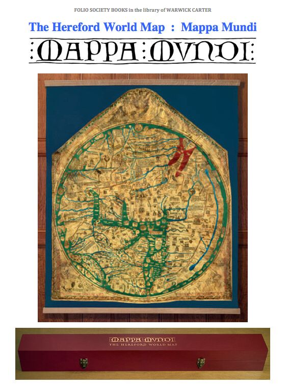 The Hereford World Map  :  Mappa Mundi - Folio Society limited edition